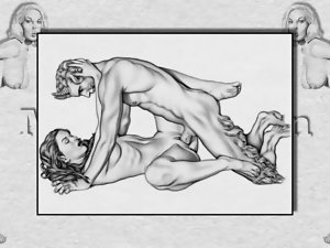 Erotic Drawings of Marc Blanton - Nymphs and Satyr