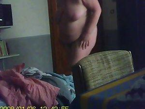 heavy filthy mom Big beautiful woman unwearing huge hooters saz