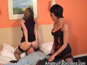 Bum rimming and vagina stroking compliation