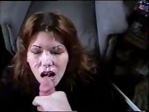 Obscene Talking Cheating wife Gets Face Full of Cum