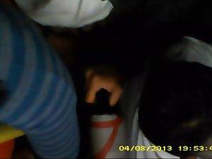 Encoxando to Pica's hand inside the brand new bus