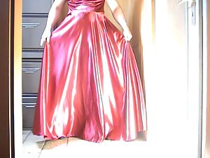 Red Satin Dress 01