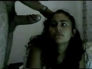 filthy desi bch- accepts loads of cumm in her face