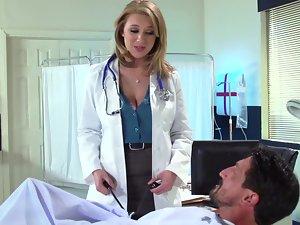 The best way to treat is presented by lovely top heavy nurse