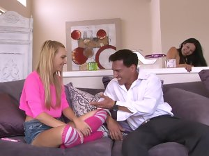 Babysitter Carmen Callaway seduced by the alluring couple