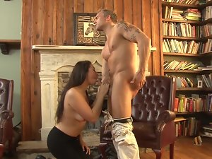 Blowing the elder man and bending over for his phallus