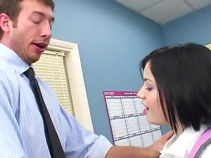 A superb young woman is getting her lips wrapped around a penis
