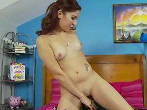 Spandex luchador shags the tempting Latina luscious teen