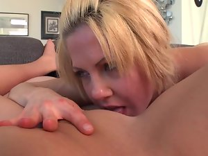 Two models are caressing their sensual friend in a butch crazy threesome action