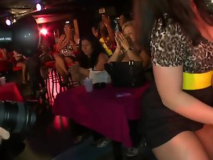 Whorish amateur party slutty chicks and male strippers have a crazy time