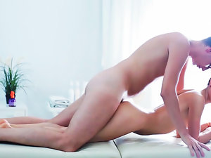 Luscious Dinara is getting a extremely sensuous massage from a sensual masseur