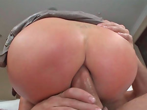 Provocative bitch Nikki Benz groans while her naughty butt is fucked