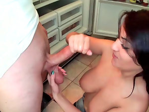 Charley Chase performing blowjob on some gifted fellow
