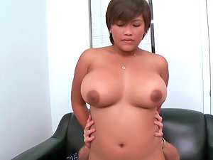Obese Latina with extremely large tits up for bum sex