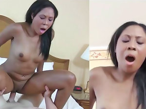 Lisa Johnson making loud sounds during extremely wild interracial activity