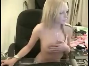 Stunningly attractive tempting blonde stripping
