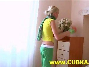 Amateur Rus couple having fun