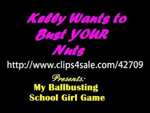 My Ballbusting School Young lady Beatdown TEASER