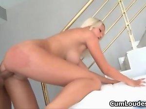 Attractive tempting blonde tart goes wild film