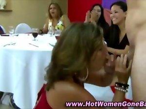 Cfnm stripper fellatio facials dick sucking