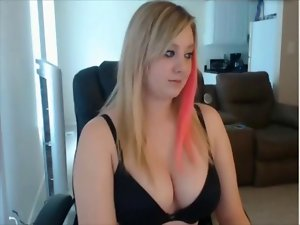 Bustie light-haired cutie stripping