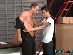 Alluring chap fellatio some absolutely plumper gay film