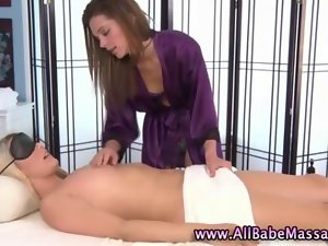 Attractive dark haired butch massage is too sexual