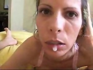 Attractive mature dick sucking handed down on a youthful dudes pecker