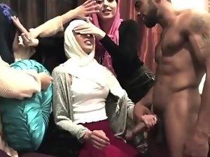 Muslim Women Expose To Big Black Dick Stripper