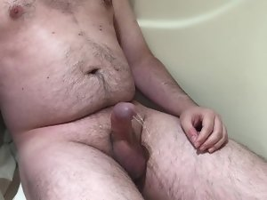 A little pee into jacking it
