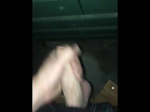 jacking off outside and cumming