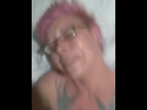 Sexy punk girl with glasses fucked hard POV Kitty Havok