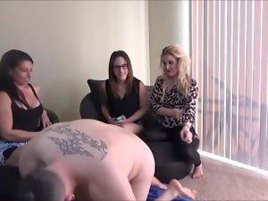 Ashtray Humiliation By Three Mistresses