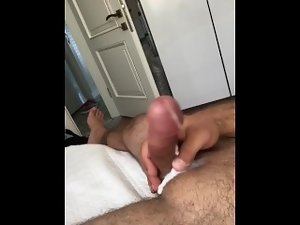 Flow cum my hard cock