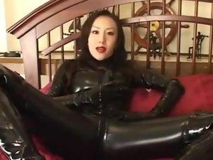 Japan femdom latex mistress