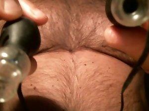 pumping my already big nipples