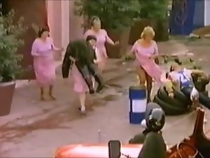 FAT LADY OTS CARRIES A FIREFIGHTER (VINTAGE COMEDY)