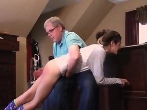 Halloween Hijinks get two sisters in trouble- Chloe's Spanking by Daddy