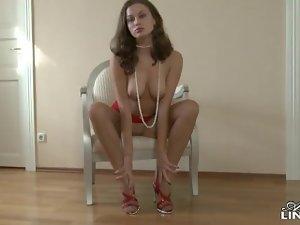Ashley - lingerie & stockings tease
