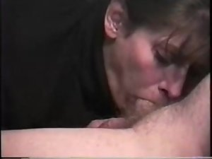 Lesson blowjob, cum in mouth