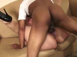 Big black cock Makes Thick Squirt before a Internal cumshot