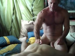 Growly dad films himself breeding the lawn boy
