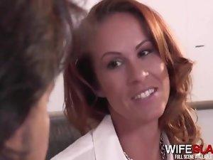 Randy Cheating Slutwife Bangs Her Co-Worker Behind Husband's Back