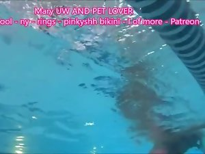 MaryUnderwaterandPetLover Indoor Pool NY Rings