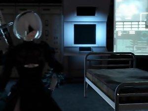 Nier: Automata 2B Game Parody