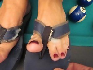 Tina's - cum shot on brilliant feet