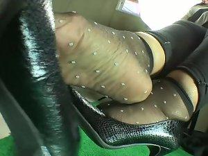 Sensual nylon socks