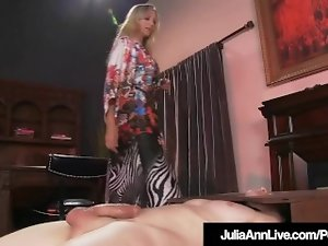 Boy Fucktoy Gets Moterboated By Buxom Cougar Julia Ann's Pussy!