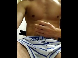 I masturbate in front of the mirror. 19 years old seductive russian boy.