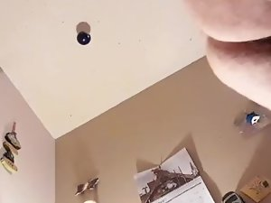camera dropped on butthole